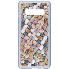 Rounded Stones Print Motif Samsung Galaxy S10 Plus Seamless Case(white) by dflcprintsclothing