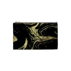 Black And Gold Marble Cosmetic Bag (small)
