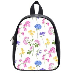 Botanical Flowers School Bag (small) by Dushan