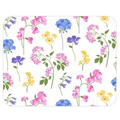 Botanical Flowers Double Sided Flano Blanket (medium)