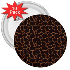 Animal Skin - Panther Or Giraffe - Africa And Savanna 3  Buttons (10 Pack)  by DinzDas