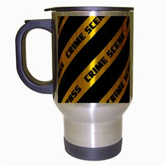Warning Colors Yellow And Black - Police No Entrance 2 Travel Mug (silver Gray) by DinzDas