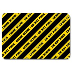 Warning Colors Yellow And Black - Police No Entrance 2 Large Doormat  by DinzDas