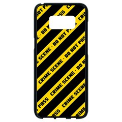 Warning Colors Yellow And Black - Police No Entrance 2 Samsung Galaxy S8 Black Seamless Case by DinzDas