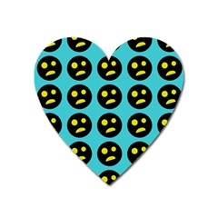 005 - Ugly Smiley With Horror Face - Scary Smiley Heart Magnet by DinzDas