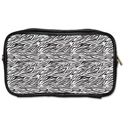 Zebra Pattern - Zebras And Horses - African Animals Toiletries Bag (one Side) by DinzDas