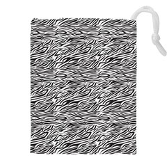 Zebra Pattern - Zebras And Horses - African Animals Drawstring Pouch (3xl) by DinzDas