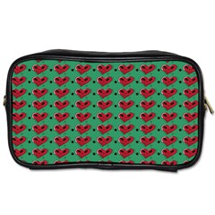 Evil Heart Graffiti Pattern Toiletries Bag (one Side) by DinzDas