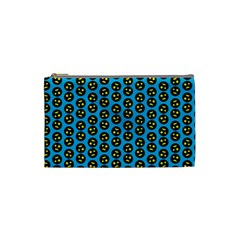 0059 Comic Head Bothered Smiley Pattern Cosmetic Bag (small) by DinzDas