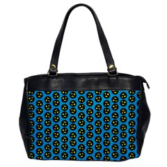 0059 Comic Head Bothered Smiley Pattern Oversize Office Handbag by DinzDas