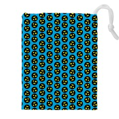 0059 Comic Head Bothered Smiley Pattern Drawstring Pouch (4xl) by DinzDas