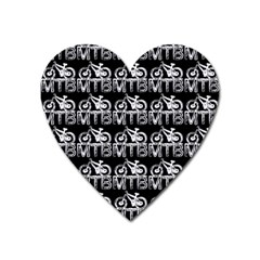 Mountain Bike - Mtb - Hardtail And Dirt Jump 2 Heart Magnet by DinzDas