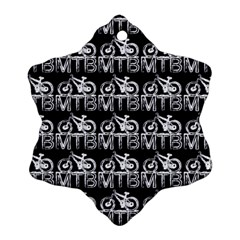 Mountain Bike - Mtb - Hardtail And Dirt Jump 2 Ornament (snowflake) by DinzDas