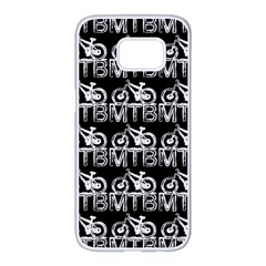 Mountain Bike - Mtb - Hardtail And Dirt Jump 2 Samsung Galaxy S7 Edge White Seamless Case by DinzDas