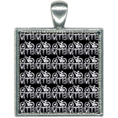 Mountain Bike - Mtb - Hardtail And Dirt Jump 2 Square Necklace by DinzDas