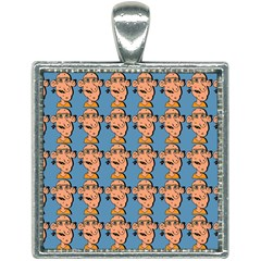 Village Dude - Hillbilly And Redneck - Trailer Park Boys Square Necklace by DinzDas