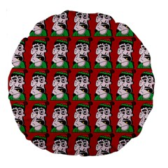 Village Dude - Hillbilly And Redneck - Trailer Park Boys Large 18  Premium Round Cushions by DinzDas