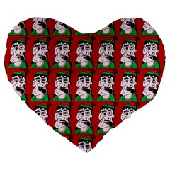 Village Dude - Hillbilly And Redneck - Trailer Park Boys Large 19  Premium Flano Heart Shape Cushions by DinzDas
