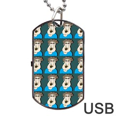 Village Dude - Hillbilly And Redneck - Trailer Park Boys Dog Tag Usb Flash (two Sides) by DinzDas