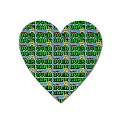 Game Over Karate And Gaming - Pixel Martial Arts Heart Magnet by DinzDas