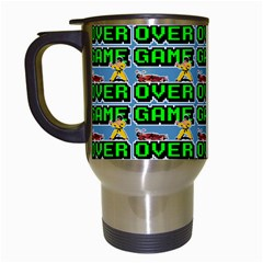 Game Over Karate And Gaming - Pixel Martial Arts Travel Mugs (white) by DinzDas