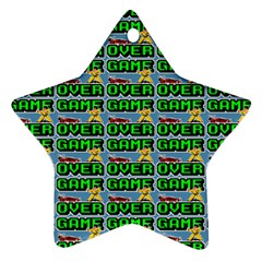 Game Over Karate And Gaming - Pixel Martial Arts Star Ornament (two Sides) by DinzDas