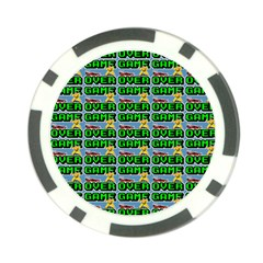 Game Over Karate And Gaming - Pixel Martial Arts Poker Chip Card Guard by DinzDas