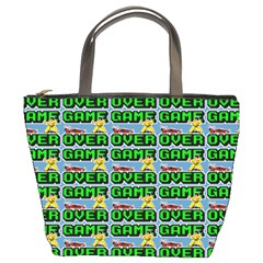 Game Over Karate And Gaming - Pixel Martial Arts Bucket Bag by DinzDas