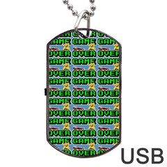 Game Over Karate And Gaming - Pixel Martial Arts Dog Tag Usb Flash (two Sides) by DinzDas
