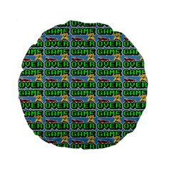 Game Over Karate And Gaming - Pixel Martial Arts Standard 15  Premium Flano Round Cushions by DinzDas