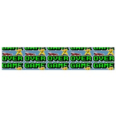 Game Over Karate And Gaming - Pixel Martial Arts Small Flano Scarf by DinzDas