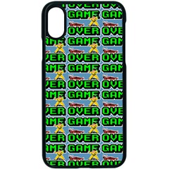 Game Over Karate And Gaming - Pixel Martial Arts Iphone Xs Seamless Case (black) by DinzDas