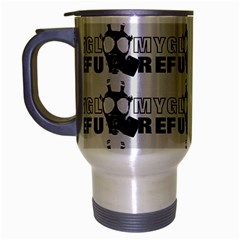 Gloomy Future  - Gas Mask And Pandemic Threat - Corona Times Travel Mug (silver Gray) by DinzDas