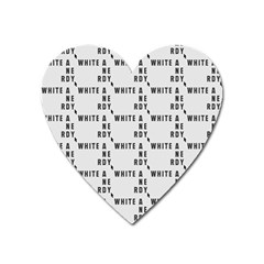 White And Nerdy - Computer Nerds And Geeks Heart Magnet by DinzDas