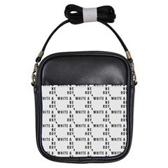 White And Nerdy - Computer Nerds And Geeks Girls Sling Bag by DinzDas