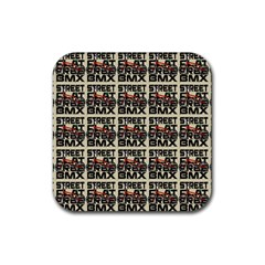 Bmx And Street Style - Urban Cycling Culture Rubber Square Coaster (4 Pack)  by DinzDas