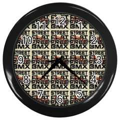 Bmx And Street Style - Urban Cycling Culture Wall Clock (black) by DinzDas