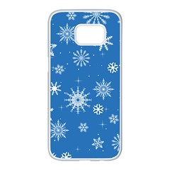 Winter Time And Snow Chaos Samsung Galaxy S7 Edge White Seamless Case by DinzDas