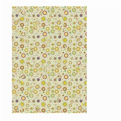 Abstract Flowers And Circle Large Garden Flag (two Sides)