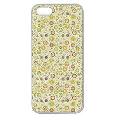 Abstract Flowers And Circle Apple Seamless Iphone 5 Case (clear) by DinzDas