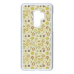 Abstract Flowers And Circle Samsung Galaxy S9 Plus Seamless Case(white) by DinzDas
