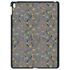Abstract Flowers And Circle Apple Ipad Pro 9 7   Black Seamless Case by DinzDas