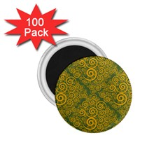 Abstract Flowers And Circle 1 75  Magnets (100 Pack)  by DinzDas