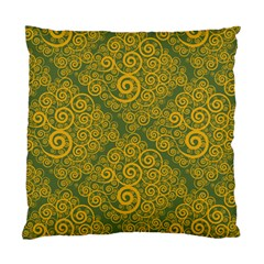 Abstract Flowers And Circle Standard Cushion Case (two Sides) by DinzDas