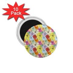 Abstract Flowers And Circle 1 75  Magnets (10 Pack)  by DinzDas