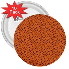 Animal Skin - Lion And Orange Skinnes Animals - Savannah And Africa 3  Buttons (10 Pack)  by DinzDas