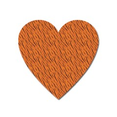 Animal Skin - Lion And Orange Skinnes Animals - Savannah And Africa Heart Magnet by DinzDas