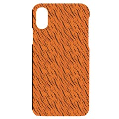 Animal Skin - Lion And Orange Skinnes Animals - Savannah And Africa Iphone X/xs Black Uv Print Case by DinzDas