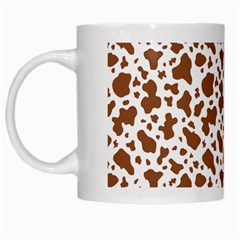 Animal Skin - Brown Cows Are Funny And Brown And White White Mugs by DinzDas
