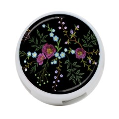 Embroidery-trend-floral-pattern-small-branches-herb-rose 4-port Usb Hub (two Sides) by Bejoart